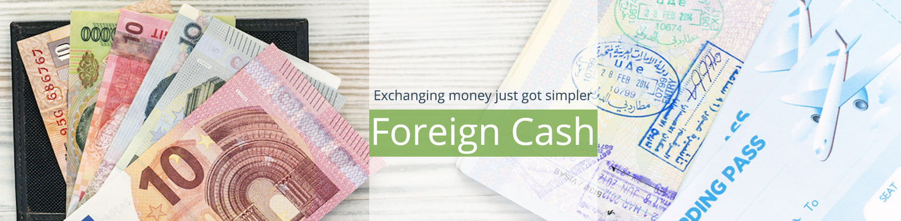 Foreign cash slider