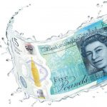 The New Fiver - 5 Pound Polymer Banknote from Bank of England
